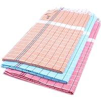 Sathiyas Sunrise Cotton Bath Towel 3 Pcs Combo (Pink, Green, Orange) (Red || Yellow || Blue)