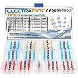 electrapick 180 piezas Conector Eléctrico Termocontraíble soldadura de estaño Terminales de Cable Impermeable para auto