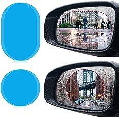 JOLVVN 4 Pcs Auto Rückspiegel Wasserdicht Schutzfolie transparent Folie [Regendicht] [Blendschutz] [Anti-Fleck] [Anti-Mist] [Anti-Kratz]
