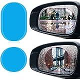 Scspecial Auto Seitenspiegel Wasserfeste Anti Fog Folie Blendschutz Anti Beschlag Aufkleber Um Außenspiegel Klar In Regnerischen Tagen Zu Sehen Oval Auto