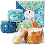 LA BELLEFÉE Bougies Parfumées Bougies d'Automne Bougie Citrouille à la Cire de Soja Naturelle Idée Cadeau pour Anniversaire M