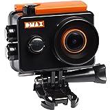 DMAX Action Cam Full HD WiFi mit 12 MP, 2 Zoll Display, 140° Betrachtungswinkel, WLAN, 1920*1080 Px Videoauflösung, wasserdichtem Gehäuse und umfangreichem Zubehör