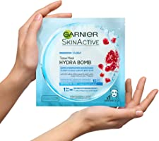 Garnier Pomegranate Hydrating Face Tissue Mask for Dehydrated Skin, (Package may vary)