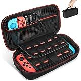 Keten tas voor Nintendo Switch, draagtas voor de Nintendo Switch console, games, Joy-Con en andere Nintendo Switch accessoire