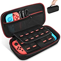 Keten Carry Case for Nintendo Switch, Protective Portable Travel Pouch Shell With 19 Games Cartridge Holders for Switch…