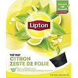 Lipton Thé Vert Citron Zeste de Folie, Capsules Compatible Nescafé Dolce Gusto, Label Rainforest Alliance 48 Capsules (Lot de