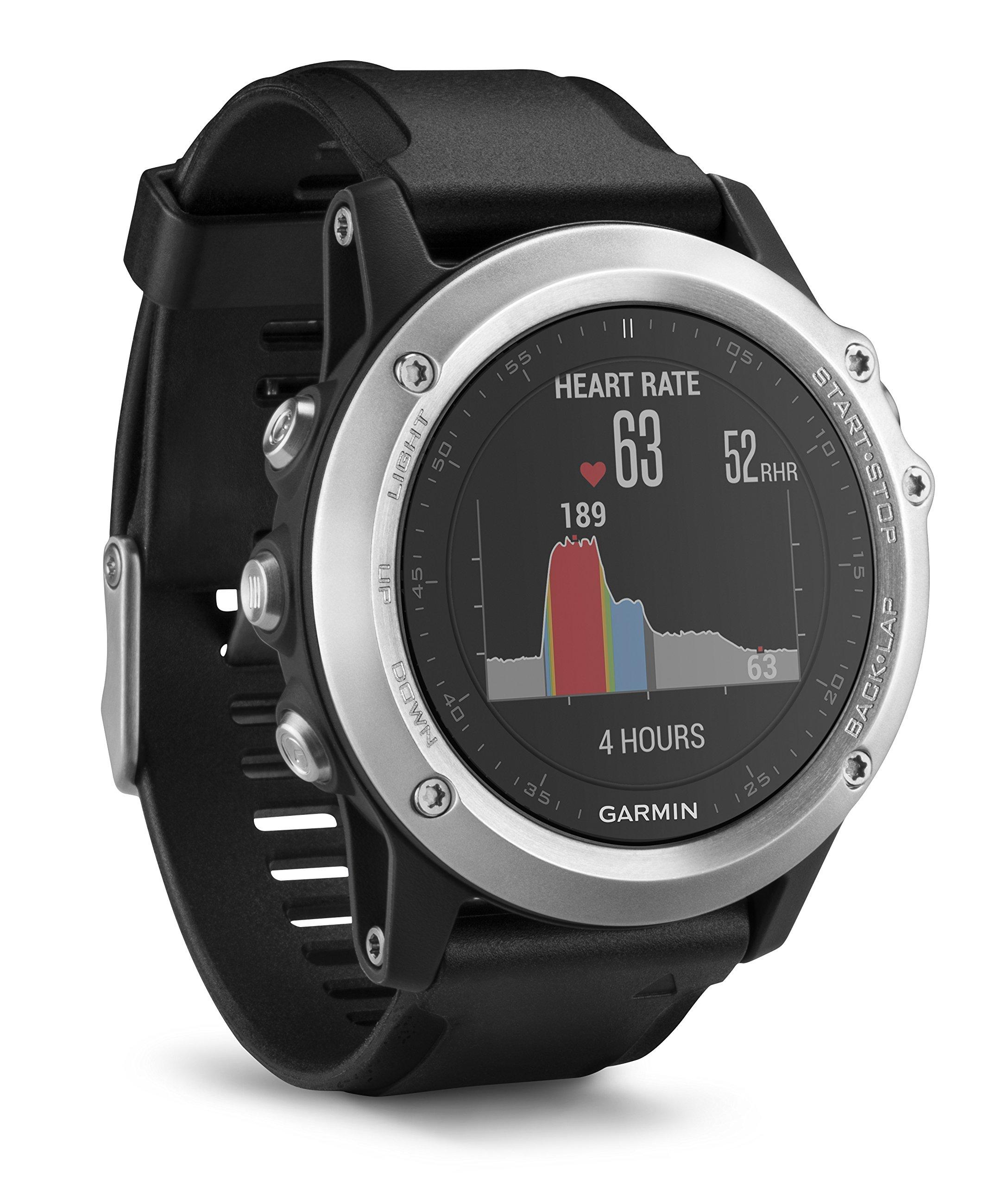 Garmin Fenix 3 HR Smartwatch GPS Multisport, Sensore Cardio al Polso, Display a Colori, Altimetro e Bussola, Nero/Grigio 5 spesavip