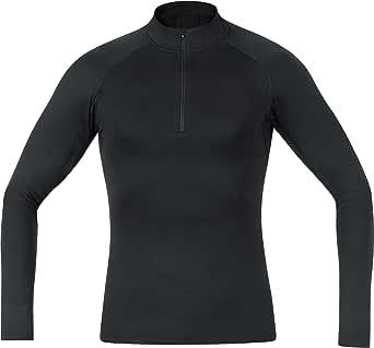 GORE Wear Maglia intima traspirante a collo alto da uomo, GORE M Base Layer Thermo Turtleneck, M, Nero, 100319