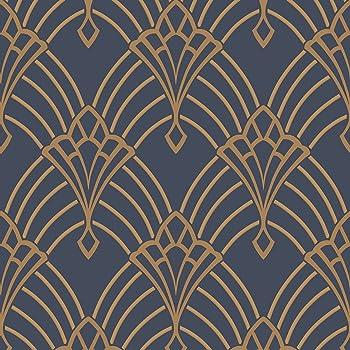 Papier Peint Gaufre Et Metallise Holden Motif Gatsby Art Deco