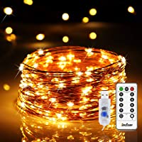 120 LEDs Fairy Lights USB Plug in 12m/40ft String Lights 8 Modes Twinkle Firefly Lights USB Powered for Home Indoor…