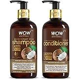 WOW Skin Science Coconut Milk Hair Care Set - consists of Coconut Milk Shampoo & Coconut Milk Conditioner - Net Vol. 600mL