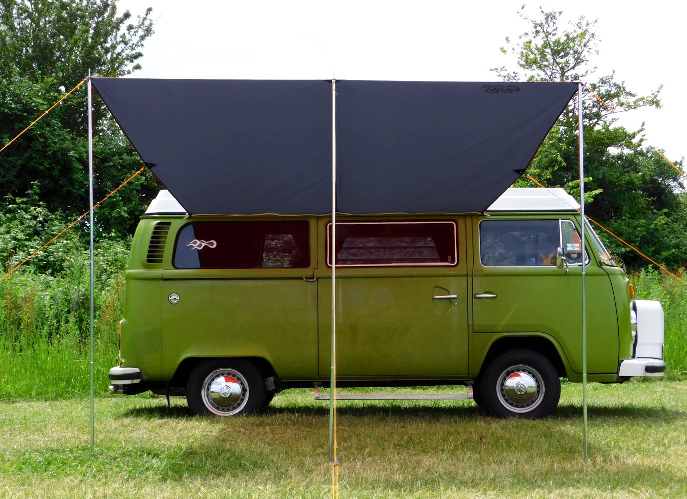 DEBUS Campervan Sun Canopy Awning - Anthracite Grey 2