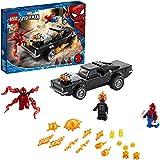 LEGO Super Heroes Spider-Man e Ghost Rider vs. Carnage, Giocattolo con Auto da Costruire, Set Marvel Super Heroes, 76173