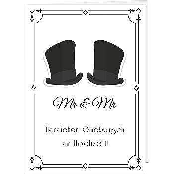 Edle Karte Fur Eine Hochzeit Eines Schwulen Parchens Hochzeitskarte