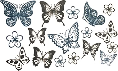 Generic 3D Temporary Tattoo Butterfly Design Size (10.5X6cm, 1Pc, SSRT0003)