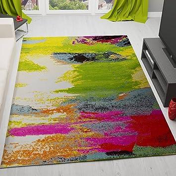 Teppich bunt modern  Teppich Modern Designer Splash Muster Multifarben Bunt – VIMODA ...