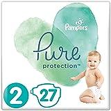 Pampers Pure Protection, Gr.2 Mini 4-8 kg, Tragepack (1 x 27 Stück), mit Premium-Baumwolle