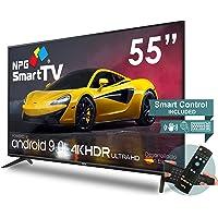 """Téléviseur LED 55"""" UHD 4K NPG 2021 Smart TV Android 9.0 + Smart Control QWERTY/Motion - WiFi Quad Core PVR DVB-T2/C"""