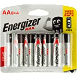 Energizer Max Long Lasting High Performance Batteries AA, Pack of 12
