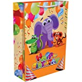 Arrow Paper Bags Birthday Bag with Elephant Theme (Multicolour) - Pack of 30