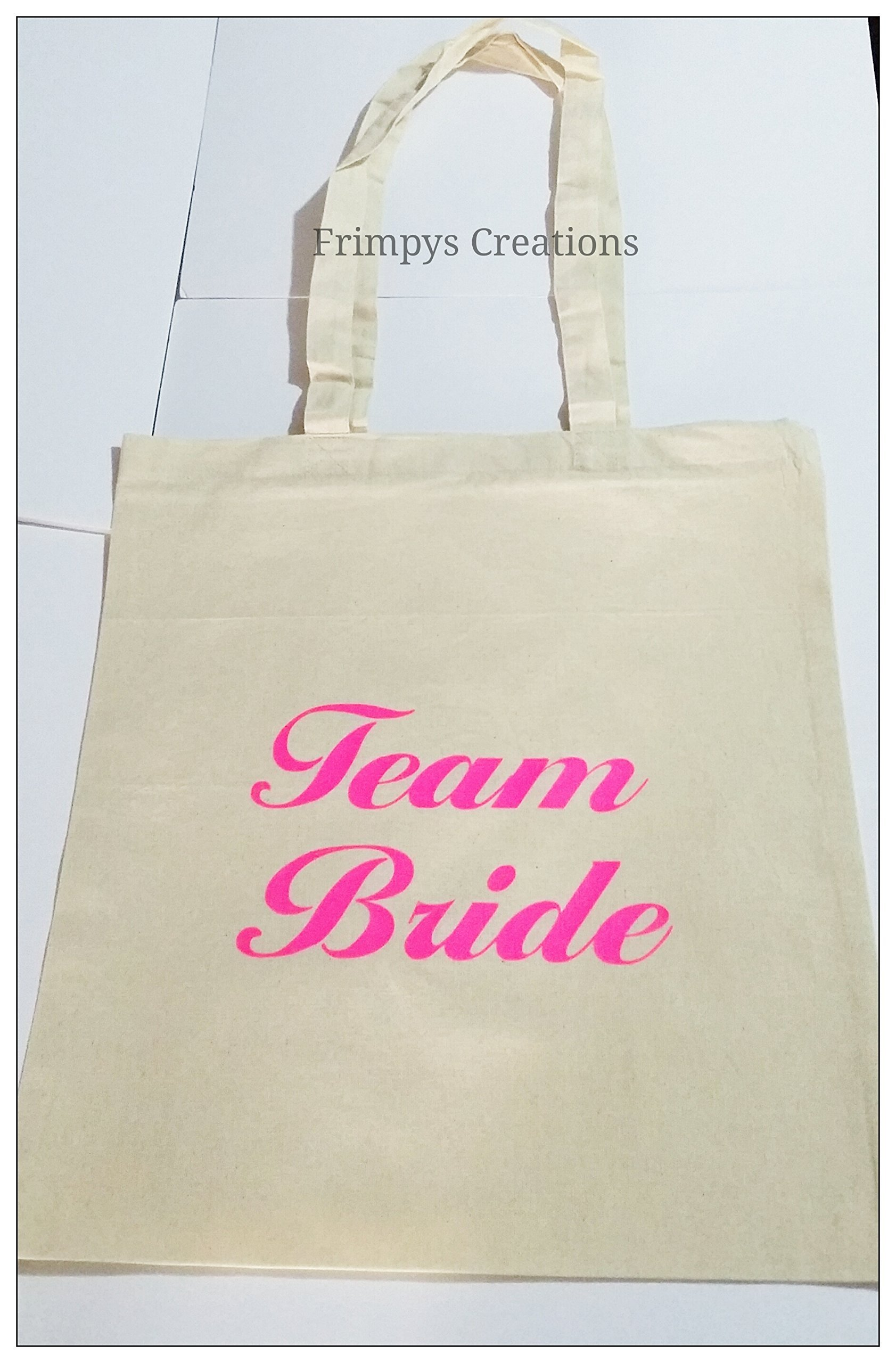 Wedding Favour Tote Bag cotton Printed Gift Present Keep Team Bride Novelty (BAG) - handmade-bags