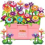 Fivejoy Jouets De Construction De Jardin De Fleurs pour Filles 134pcs, DIY Creatifs Et Ensembles De Bouquets De Bricolage ave