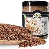 CiboCrudo Farina di Semi di Lino Cruda Bio, Naturalmente Priva di Glutine, Qualità Austriaca, per Ricette Salate e Dolci, Mac