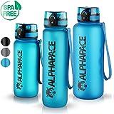 ALPHAPACE Trinkflasche - 650ml/1000ml/1500ml - BPA-frei - Wasserflasche auslaufsicher - Mit 1 klick öffnen - Schule, Sport, Fahrrad, Kinder