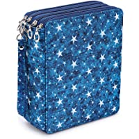 Sumnacon 160 trous Trousse/Sac de crayon avec Grand capacité pour Dessinateur Professionnelle ou Amateur (Étoiles bleues…