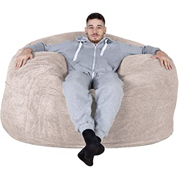 0943a167f548 Lounge Pug® - Pom Pom - CLOUDSAC - Huge Memory Foam GIANT Bean Bag SOFA -  1000 Litre - Beanbag UK - IVORY