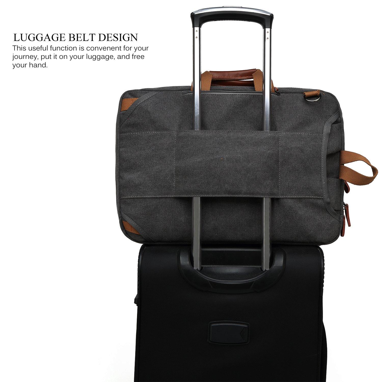 5c17f4f3d250 CoolBELL Convertible Backpack Shoulder bag Messenger Bag Laptop Case ...