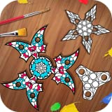 Fidget Spinning Coloring Book Painter Pages Simulation