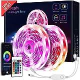 12M Bluetooth Tiras LED, KOOSEED Luces de LED Tiras RGB LED Iluminacion con Control APP & Remote, Multicolor Sinconrazion con