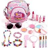 ARANEE Juguete de Maquillaje para niños, 17 Piezas Kit de Juguete de Maquillaje Lavable con Bolsa De Cosméticos para Juegos,