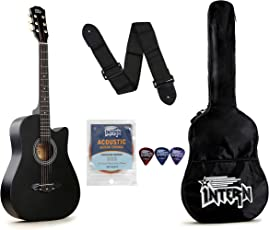 Intern INT-38C Acoustic Guitar Kit, Black