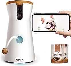 Furbo Hundekamera: Full-HD-WiFi-Haustierkamera mit 2-Wege-Audio, Leckerli-Ausgabe und Bell-Alarm (bekannt aus VOX hundkatzemaus)