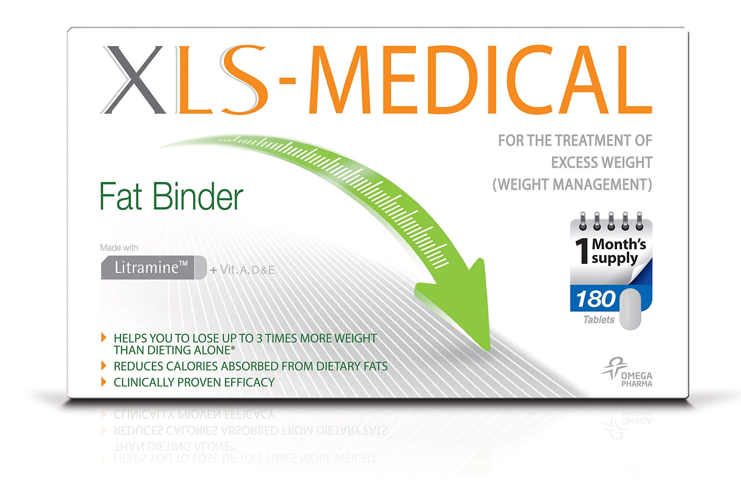 81lvHNApfeL - XLS Medical Fat Binder Tablets Weight Loss Aid, 180 Tablets