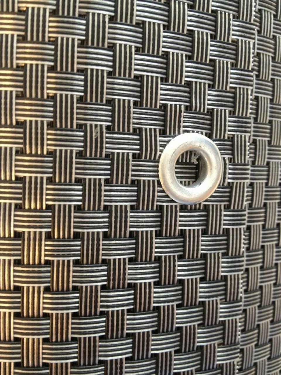 Silber&Anthrazit 7x0 9m Polyrattan Sichtschutz Balkonsichtschutz
