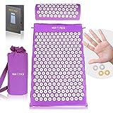 High Pulse Kit d'acupression, inclus sac de rangement + poster - Matelas d'acupression et coussin d'acupression pour soulager les douleurs et les courbatures