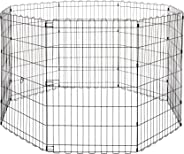 AmazonBasics Foldable Metal Pet Exercise and Playpen Without Door, 36