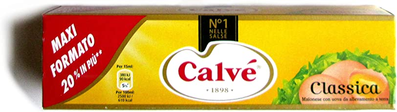 MAIONESE CALVE' CLASSICA TUBO DA 185 ML SALSA MAYONNAISE PANINI PUB PIZZERIA BAR