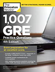 The Princeton Review 1,007 Gre Practice Questions