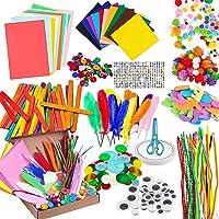 Artisanat pour Les Enfants, Plus de 1000 Matériaux Artisanaux pour Enfants, Cure pipes Fil Chenille Pompons Colorés…