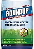 Roundup Rasen-Unkrautfrei Rasendünger, 2in1, Unkrautvernichter plus Dünger mit 100 Tage Langzeitwirkung, 9 kg für 450 m²