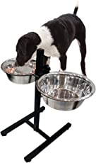 Pets Empire Steel Height Adjustable Dog Feeding Bowl with One Large Slow-Bowl