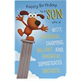 Biglietto di compleanno per figlio, biglietto di compleanno per lui, divertente biglietto di compleanno