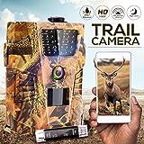 IPS IP SMART Caméra de Chasse,1080P Caméra de Surveillance Exterieur.Vision Nocturne Infrarouge Jusqu'à 65FT HD IP67 Étanche Camera Chasse Infrarouge la Norme