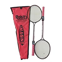 Badminton Racket Rohit's Imagine Double Shaft Set of 2 Piece (1 Pair)