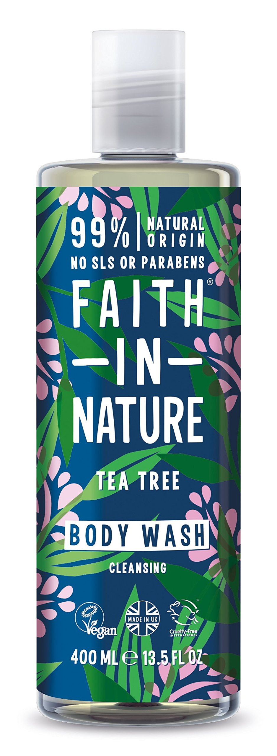 Faith In Nature Tea Tree Invigorating Shower Gel & Foam Bath 400ml
