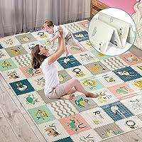 Tappetino da gioco per bambini extra large, tappetino per gattonare sensoriale e di apprendimento, tappetino antiscivolo…